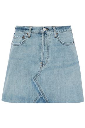 RE/DONE by LEVI'S Distressed denim mini skirt