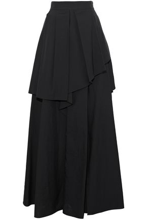 BRUNELLO CUCINELLI Crinkled cotton-blend maxi skirt