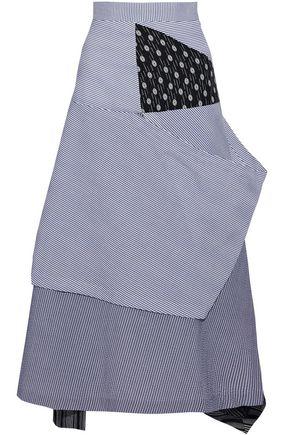 J.W.ANDERSON Patchwork cotton midi skirt
