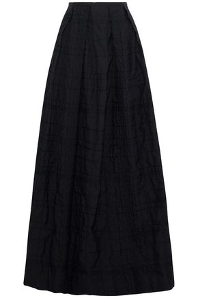 BRUNELLO CUCINELLI Sequin-embellished pleated cotton-blend maxi skirt