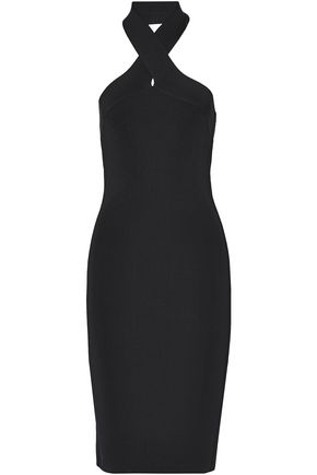 T by ALEXANDER WANG Stretch-knit halterneck dress