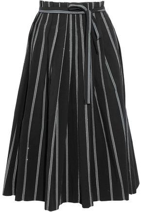 BRUNELLO CUCINELLI Striped stretch-cotton skirt