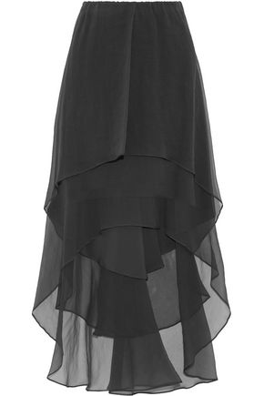 BRUNELLO CUCINELLI Ruffled silk-georgette skirt