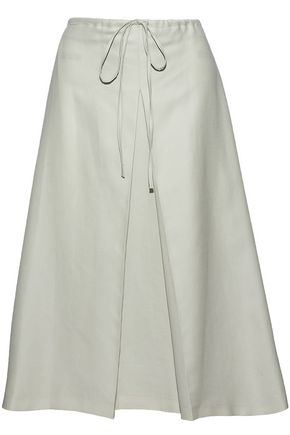 pleated-cotton-skirt by jil-sander
