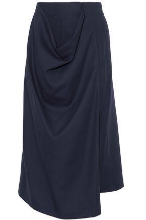 JIL SANDER Draped cotton skirt