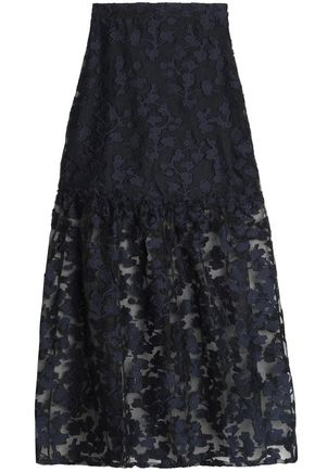 PERSEVERANCE Embroidered fil coupé maxi skirt