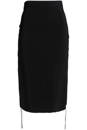 ANTONIO BERARDI Lace-up crepe pencil skirt