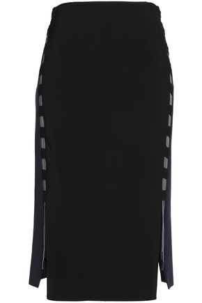 ANTONIO BERARDI Cutout cotton-crepe pencil skirt