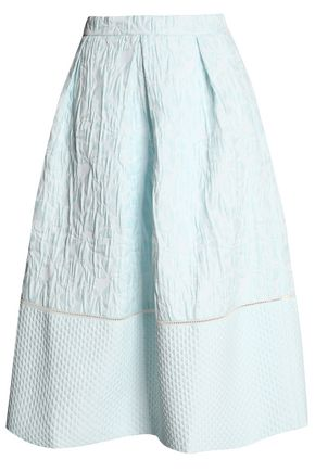PERSEVERANCE Crinkled jacquard midi skirt