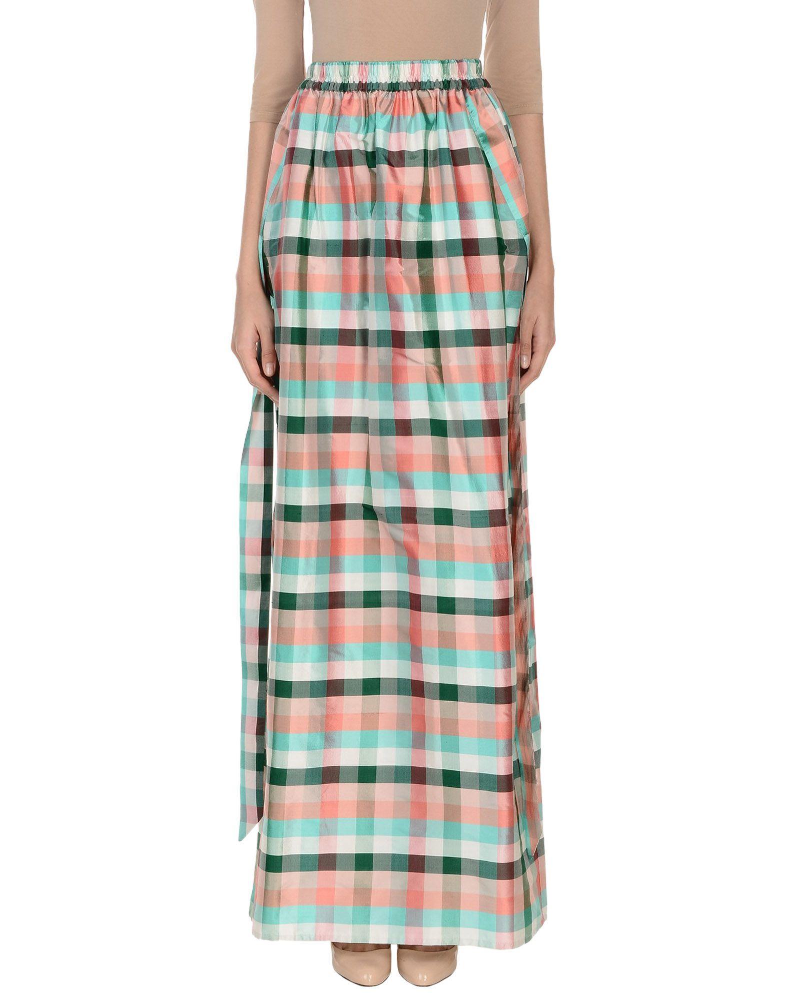 ANDREA INCONTRI Maxi Skirts in Light Green
