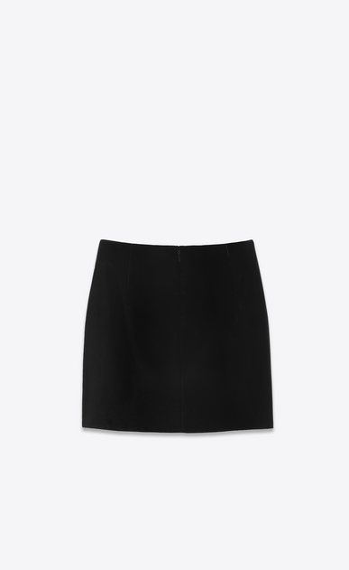 SAINT LAURENT Short Skirts Woman Pointed skirt in black velvet b_V4