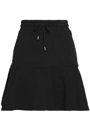 McQ Alexander McQueen Embroidered cotton midi skirt