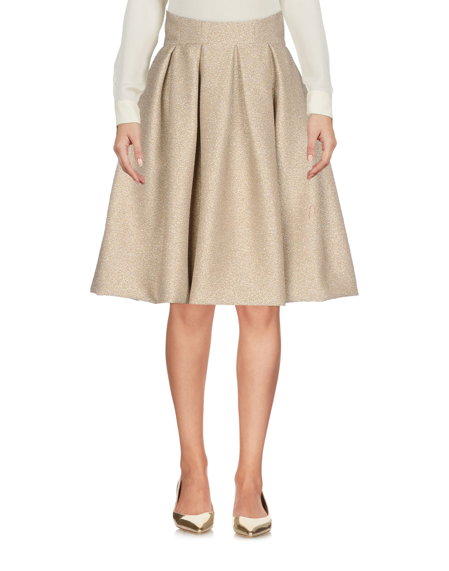 IO COUTURE Knee Length Skirt in Gold