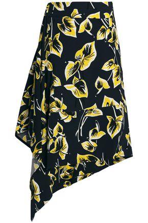 MARNI Asymmetric jacquard skirt