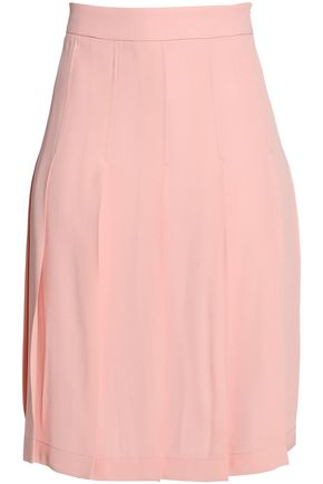 MARNI Pleated crepe de chine skirt