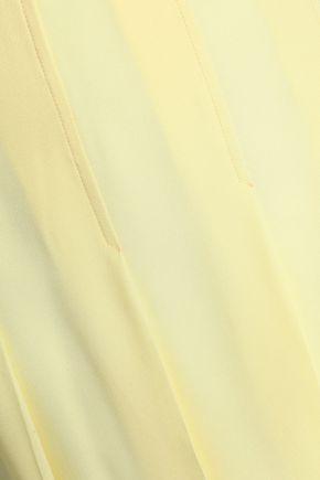 MARNI Pleated crepe skirt