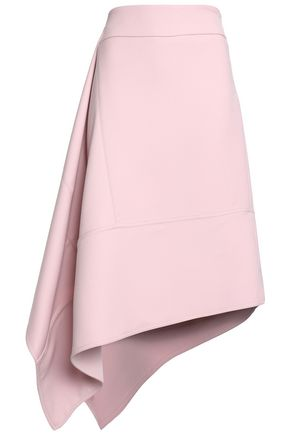 MARNI Asymmetric wool-crepe skirt