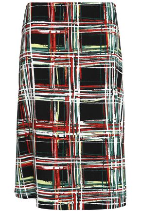 MARNI Checked canvas skirt