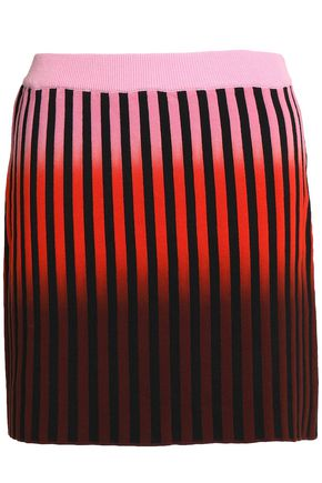 OPENING CEREMONY Striped stretch-cotton mini skirt