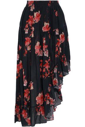 IRO Asymmetric printed voile skirt