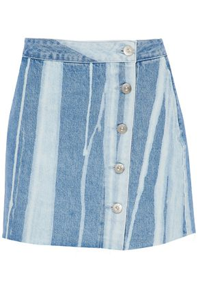 3x1 Distressed denim mini skirt