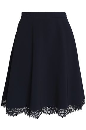 CLAUDIE PIERLOT Lace-trimmed twill skirt