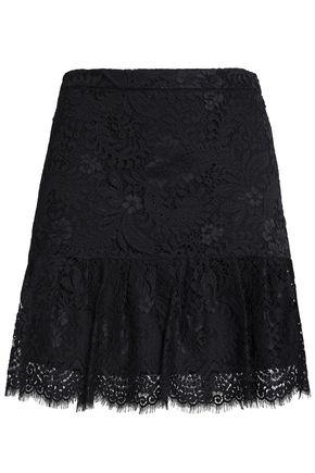 CLAUDIE PIERLOT Pleated lace mini skirt