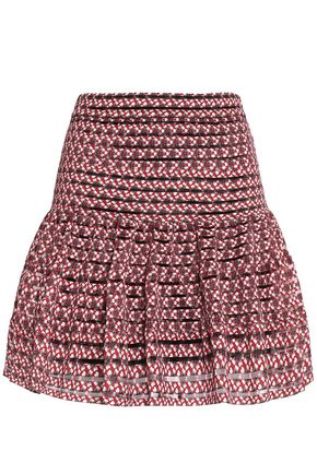 MAJE Floral-print stretch-knit mini skirt