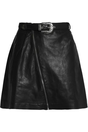 MAJE Leather mini skirt