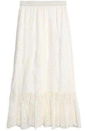 MAJE Lace maxi skirt