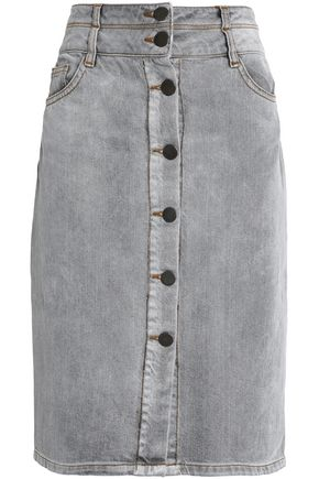 MAJE Faded denim skirt
