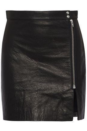 IRO + Anja Rubik Patti textured-leather mini skirt