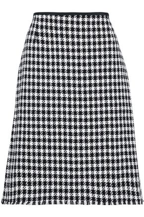 THOM BROWNE Frayed houndstooth cotton-tweed mini skirt