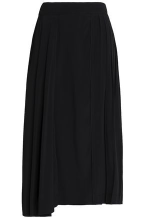 MARNI Pleated crepe midi skirt