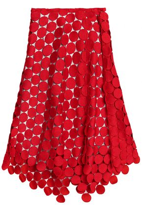 MARNI Guipure lace midi skirt
