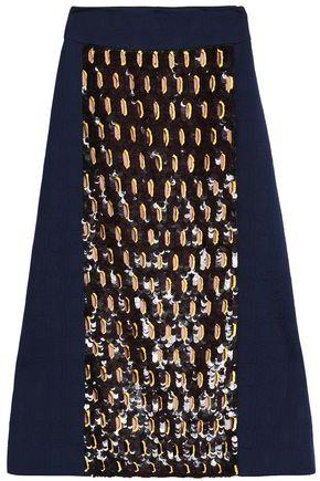 MARNI Sequin-embellished jacquard midi skirt