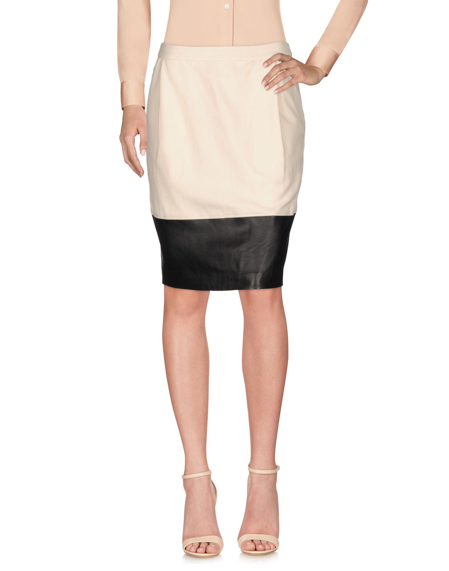 BAND OF OUTSIDERS Knee Length Skirt in Ivory