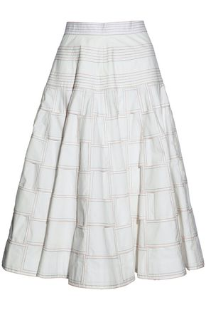 THOM BROWNE Cotton-poplin skirt