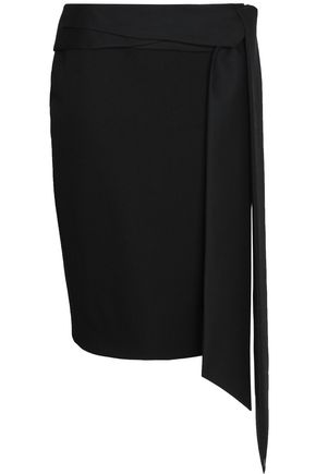 CHALAYAN Tied twill skirt