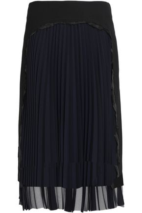 MAISON MARGIELA Wool-crepe plissé skirt