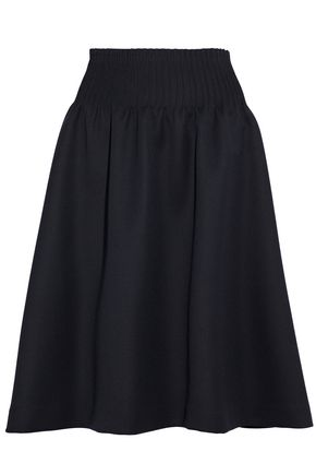 THOM BROWNE Pintucked wool-twill skirt
