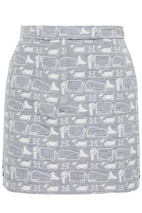 THOM BROWNE Bouclé-jacquard mini skirt