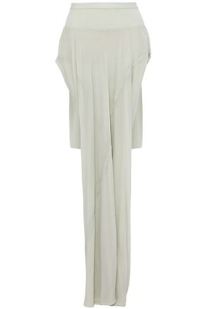 RICK OWENS Skirt-effect asymmetric silk crepe de chine briefs