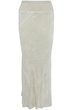 RICK OWENS Ruffled velvet maxi skirt