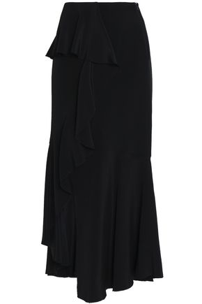 GOEN.J Ruffled silk midi skirt