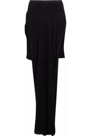 RICK OWENS Skirt-effect asymmetric silk crepe de chine briefs