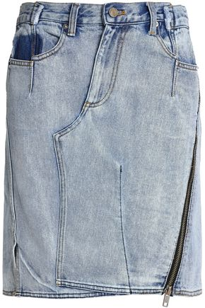3.1 PHILLIP LIM Asymmetric faded denim skirt