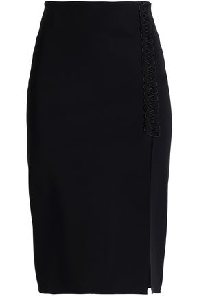 DION LEE Split-front stretch-knit skirt