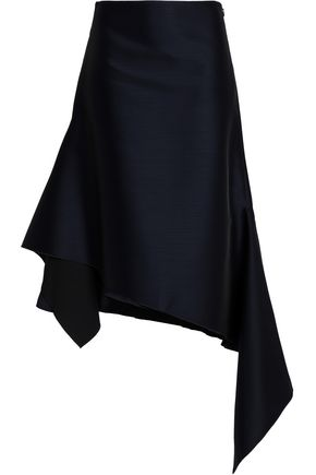 DION LEE Asymmetric wool-blend midi skirt