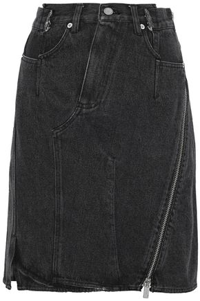 3.1 PHILLIP LIM Zip-detailed denim skirt